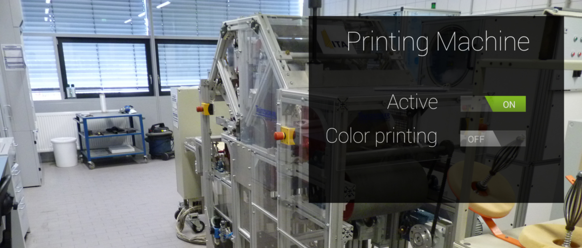 glass view OCP UA display of printing options