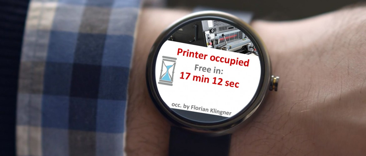 Moto wear OCP UA notification printer is occupied with duration of occupation