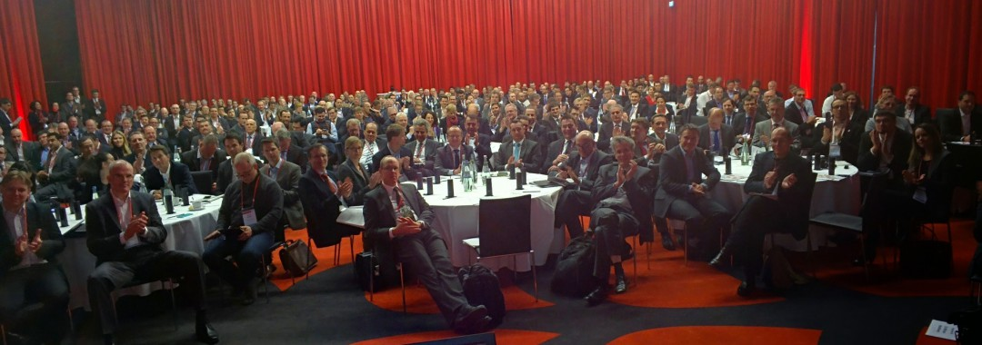 Smart Glasses view from stage at the Cross Border Innovation Conference 2015